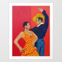 Jose y Lola Art Print