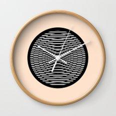 Simple Modern Stripes Circular Print Wall Clock