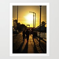 Couple's walk Art Print