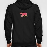 Baer  With Flowers  Hoody