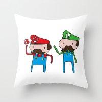 Mario Bros. Throw Pillow
