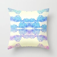 Geometric Swirls Throw Pillow