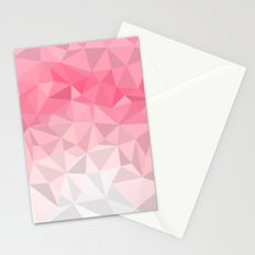 Pink Polygon Stationery Cards