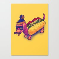 Chicago Dog Canvas Print