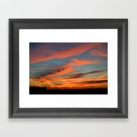 The Sky Is On Fire Framed Art Print