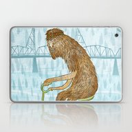Dirty Wet Bigfoot Hipste… Laptop & iPad Skin