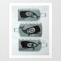 Whale In A Bottle | Trip… Art Print