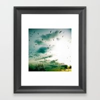 Descendants Of Icarus Framed Art Print