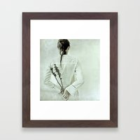 The contemplation of the hours. Framed Art Print