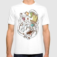 More Coffee SMALL White Mens Fitted Tee