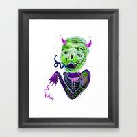 DemoniooOOoOOoOooo #3 Framed Art Print
