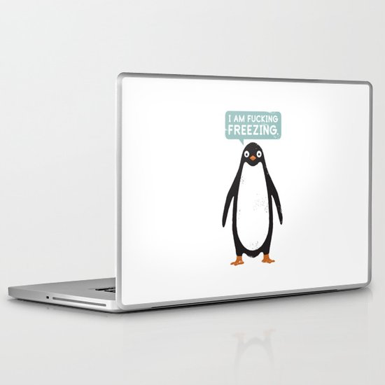 Talking Penguin Laptop & iPad Skin