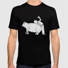 The Known Practice of using Domesticated Bears as cushions while drinking.  Mens Fitted Tee Black SMALL