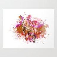 Crazy Zebra II Art Print