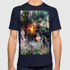 Where Fairies Live Mens Fitted Tee Navy SMALL