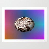 floating egg Art Print