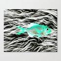 Fish on Fur V Canvas Print