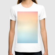 Gradient Sun Womens Fitted Tee White SMALL