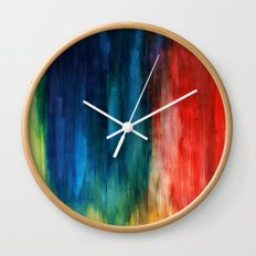 Spring Yeah! - Abstract paint 1 Wall Clock