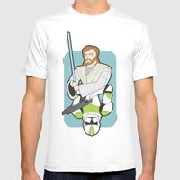 Obi-wan And Clone Troope… Mens Fitted Tee White SMALL