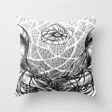 Venus Skull Throw Pillow