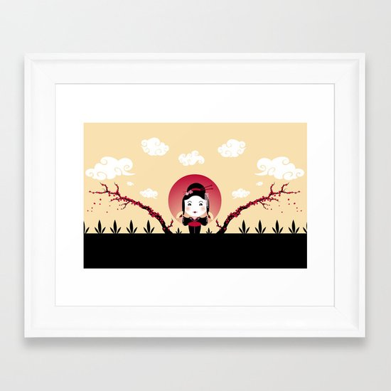 Geisha2 Framed Art Print