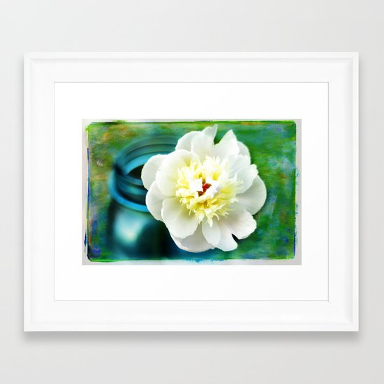 Summer White Framed Art Print