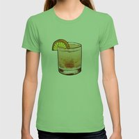 DRINK  Womens Fitted Tee Grass SMALL
