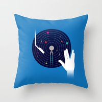 Star Tracks Throw Pillow
