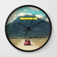NEVER STOP EXPLORING III Wall Clock