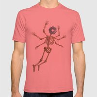GEAR HEAD SKELETON Mens Fitted Tee Pomegranate SMALL