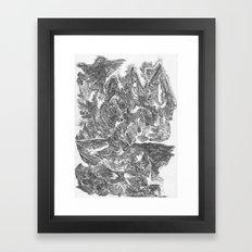 A Horse Runs Up The Mountain Framed Art Print