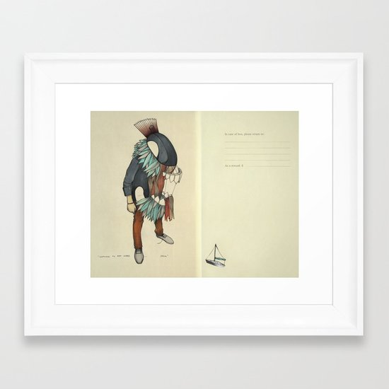 No One To Eat Here, Orca Framed Art Print
