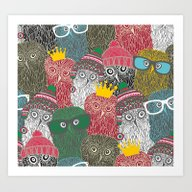 Art Print featuring The Crowd. by Panova