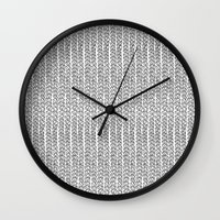 Knit Outline Wall Clock
