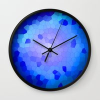Aqua Stained Wall Clock
