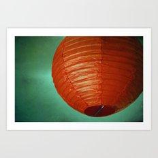 Red Globe Art Print