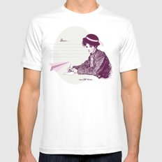 Lady Jane White SMALL Mens Fitted Tee