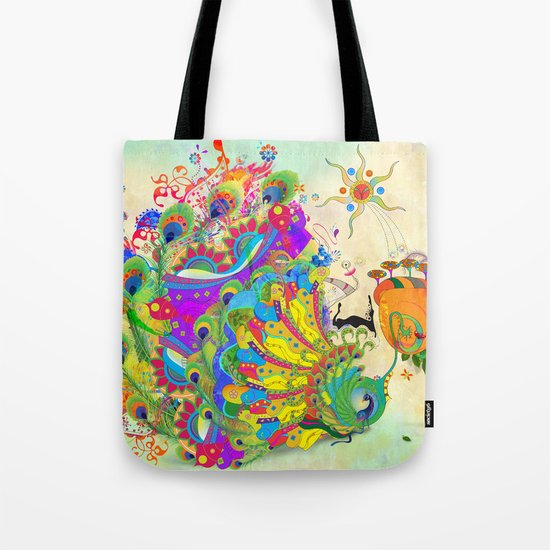 The Peacock Dance Tote Bag