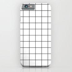 White Black Grid Minimalist Slim Case iPhone 6s