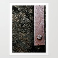 Wooden Energy Art Print