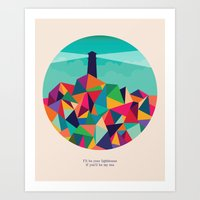 I'll be your lighthouse if you'll be my sea Art Print