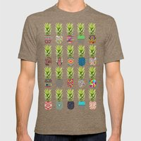 Pineapple Party Mens Fitted Tee Tri-Coffee SMALL