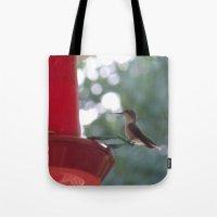 Hummingbird w/ bokeh Tote Bag