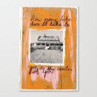 HOW MANY LICKS Canvas Print