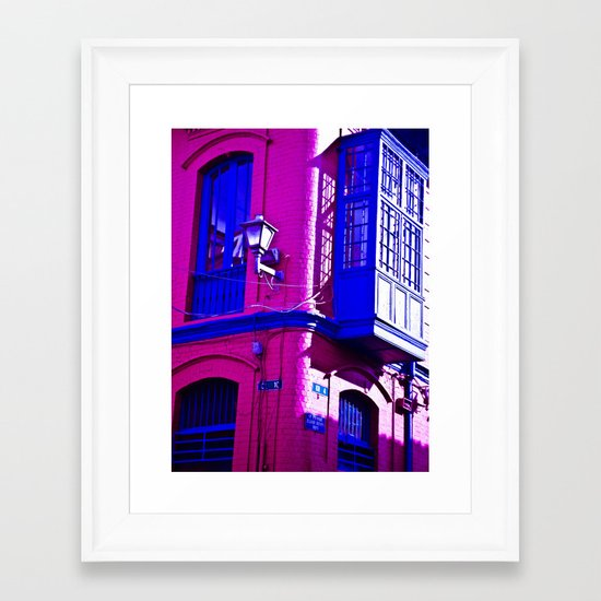 THE BALCONY WINDOW AND LIGHT Framed Art Print