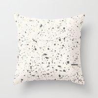 Retro Speckle Print - Bo… Throw Pillow