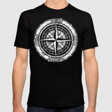 Compass Rose Mens Fitted Tee SMALL Black