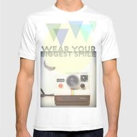WEAR YOUR BIGGEST SMILE Mens Fitted Tee White SMALL