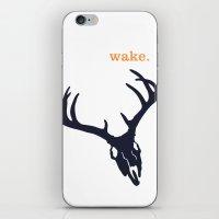 WAKE - SKULL (WHITE) iPhone & iPod Skin